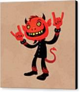 Heavy Metal Devil Canvas Print by John Schwegel