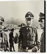 Heindrich Himmler Leftand Heydrich Canvas Print