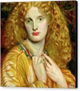 Helen Of Troy Canvas Print by Dante Charles Gabriel Rossetti