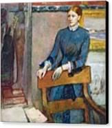 Helene Rouart Canvas Print by Edgar Degas
