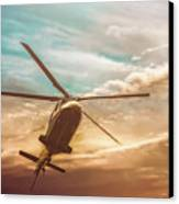 Helicopter Canvas Print by Bob Orsillo