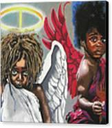 Hells Little Angels Canvas Print
