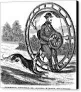 Hemmings Unicycle, 1869 Canvas Print by Granger