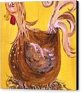 Hen Nesting Canvas Print by Eloise Schneider