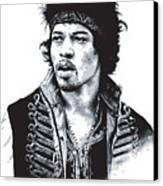 Hendrix No.02 Canvas Print by Caio Caldas