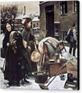Henningsen  Evicted 1890 Canvas Print by Granger
