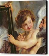 Henri Iv Receiving The Portrait Of Marie De Medici Canvas Print by Rubens