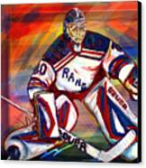 Henrik Lundqvist2 Canvas Print by Steve Benton