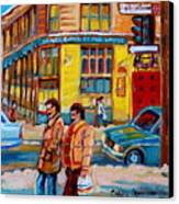 Henry Birks On St Catherine Street Canvas Print
