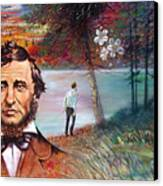 Henry David Thoreau Canvas Print by John Lautermilch