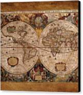 Henry Hondius Seventeenth Century World Map Canvas Print by Skye Ryan-Evans