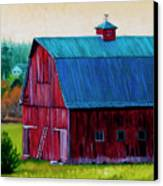 Henry Strong Barn Circa 1928 Canvas Print