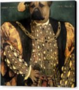 Henry Viii As A Mastiff Canvas Print
