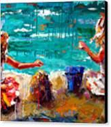 Her Blue Bucket Canvas Print