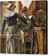 Her First Born Canvas Print by Walter Langley