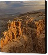 Herods Three-tiered Palace Cascades Canvas Print by Michael Melford