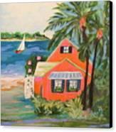 Hibiscus Beach House Canvas Print