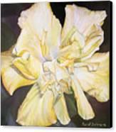 Hibiscus Jaune Canvas Print by Muriel Dolemieux