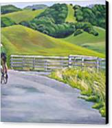 Hicks Valley Bike Ride Canvas Print by Colleen Proppe