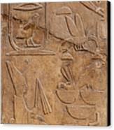 Hieroglyphs On Ancient Carving Canvas Print by Jane Rix