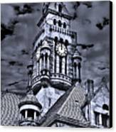 High Noon Black And White Canvas Print