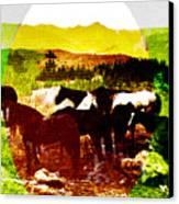 High Plains Horses Canvas Print