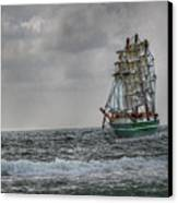 High Seas Sailing Ship Canvas Print by Randy Steele