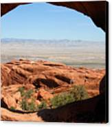 Hiking Through Arches Canvas Print