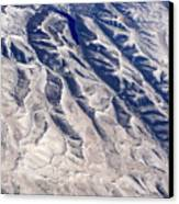 Hills And Valleys Aerial Canvas Print