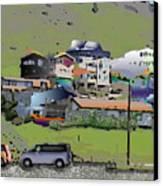 Hillside City Canvas Print