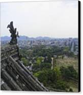 Himeji City From Shogun's Castle Canvas Print by Daniel Hagerman