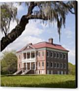 Historic Drayton Hall In Charleston South Carolina Canvas Print by Dustin K Ryan