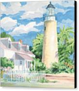 Historic Key West Lighthouse Canvas Print