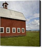 Historic Red Barn Canvas Print by Bonnie Bruno