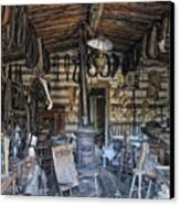 Historic Saddlery Shop - Montana Territory Canvas Print by Daniel Hagerman