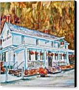 Historic Valley Green Inn Canvas Print by Joyce A Guariglia