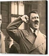 Hitler The Orator Canvas Print by Al Bourassa