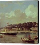 Hm Yacht Victoria Canvas Print