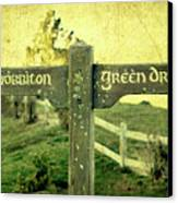 Hobbiton Signage Canvas Print by Linde Townsend
