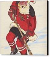 Hockey Santa Canvas Print