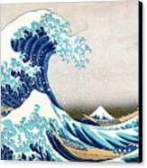 Hokusai Great Wave Off Kanagawa Canvas Print by Katsushika Hokusai