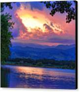 Hole In The Sky Sunset Canvas Print