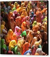 Holi India Canvas Print by Tayseer AL-Hamad