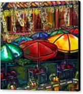 Holiday Riverwalk Canvas Print by Patti Schermerhorn