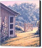Holly Hocks Canvas Print by Richard De Wolfe