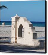 Hollywood Beach Wall In Color Canvas Print