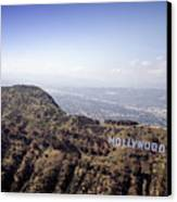 Hollywood Sign, Built Ca. 1923 By Mack Canvas Print by Everett