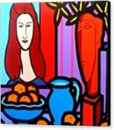Homage To Modigliani II Canvas Print