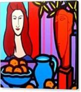 Homage To Modigliani II Canvas Print by John  Nolan