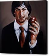 Homage To Steve Jobs Canvas Print by Emily Jones